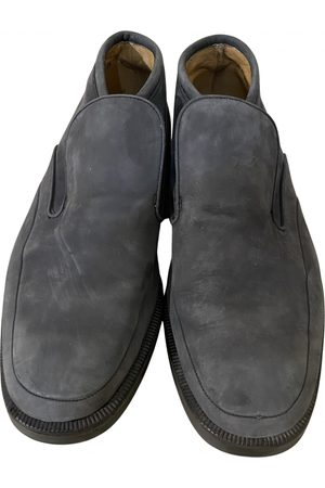 Bally Navy Leather Boots