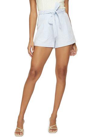 Lost + Wander Women's Sivan Stripe Belted Linen & Cotton Shorts