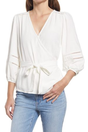 GIBSONLOOK Women's Surplice Wrap Top