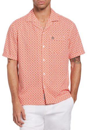 Original Penguin Men's Retro Geo Short Sleeve Button-Up Shirt