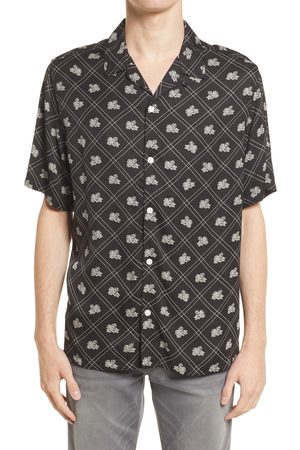 AllSaints Men's Men's Rose Relaxed Fit Floral Short Sleeve Button-Up Shirt