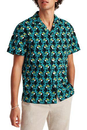 Bonobos Men's Cabana Toucan Short Sleeve Cotton Button-Up Camp Shirt