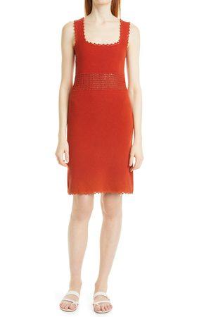 Rebecca Taylor Women's Crochet Trim Cotton Knit Tank Dress