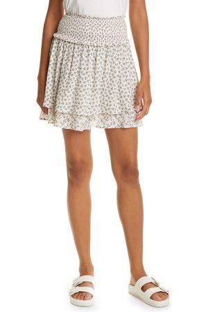 Rails Women's Addison Floral Print Smocked Miniskirt