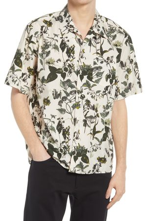 Norse Projects Men's Carsten Botanical Print Short Sleeve Button-Up Shirt