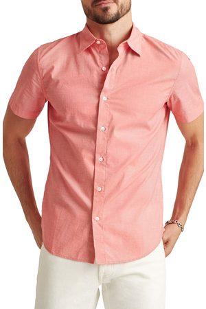 BONOBOS Men's Riviera Slim Fit Stretch Short Sleeve Button-Up Shirt