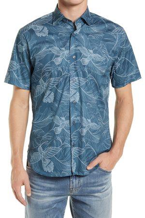 Jeff Men's High Flying Short Sleeve Stretch Button-Up Shirt