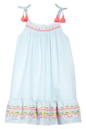 Peek Aren'T You Curious Toddler Girl's Kids' Stripe Metallic Embroidered Sundress