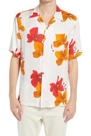 AllSaints Men's Kew Floral Short Sleeve Button-Up Camp Shirt