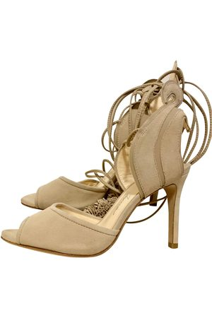 Isa Tapia Suede Sandals