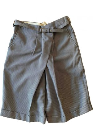 Comme Des Garcons Grey Polyester Shorts