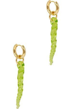 SANDRALEXANDRA Posidonia 18kt gold-plated hoop earrings
