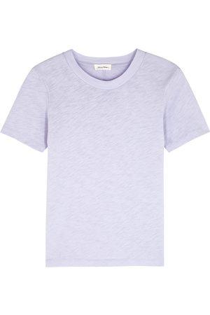 American Vintage Women T-shirts - Sonoma lilac slubbed cotton T-shirt