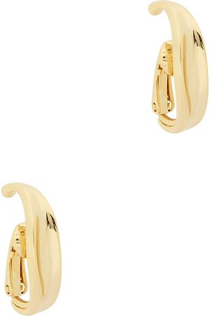 Jenny Women Earrings - Groove 14kt -dipped clip-on cuff earrings