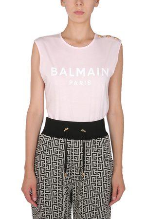 Balmain Women T-shirts - T-shirt girocollo