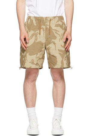 Moncler Khaki Camo Bermuda Shorts