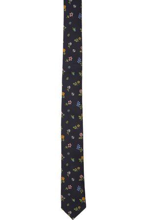 Paul Smith Navy Silk Floral Tie