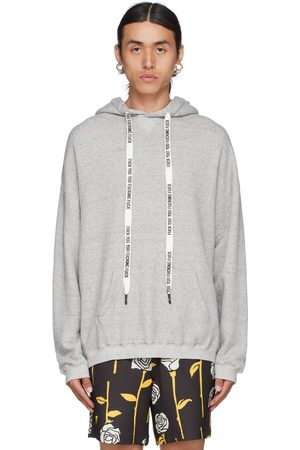 R13 Grey Oversized 'FYYFF' Hoodie