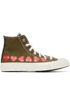 Comme des Garçons Khaki Converse Edition Multiple Hearts Chuck 70 High Sneakers