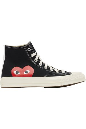 Comme des Garçons Black Converse Edition Half Heart Chuck 70 High Sneakers