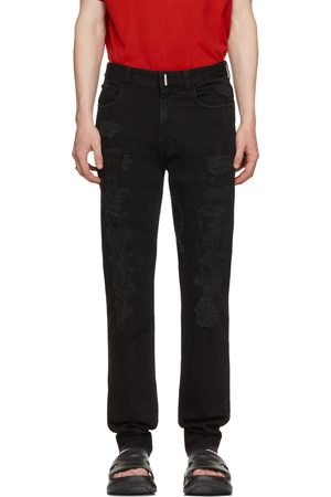 Givenchy Black Distressed Slim-Fit Jeans