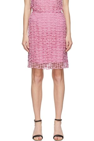 Givenchy Pink Guipure 4G Miniskirt
