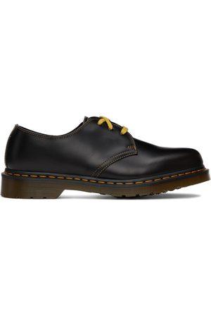 Dr. Martens Black & Yellow 1461 Atlas Oxford Shoes