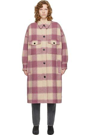 Isabel Marant Beige & Pink Check Fontizi Coat