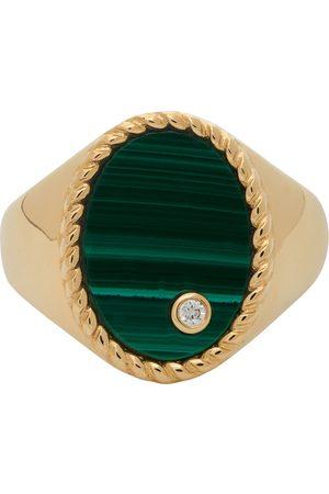 YVONNE LÉON Women Rings - Gold & Green Oval Signet Ring