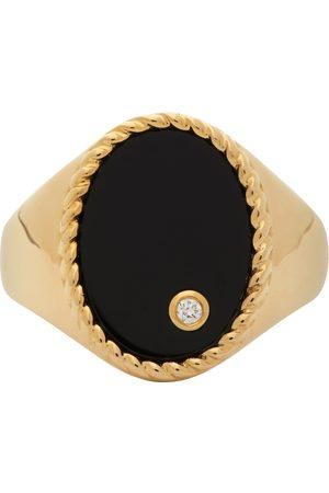 YVONNE LÉON Gold & Black Oval Signet Ring