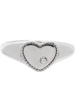 YVONNE LÉON White Gold Mini Heart Ring