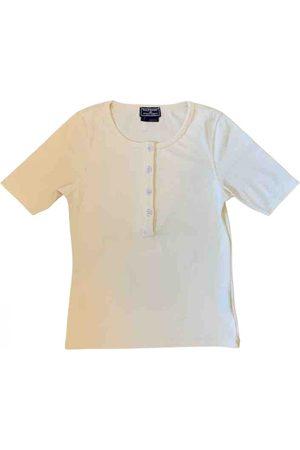Polo Ralph Lauren Women Polo Shirts - Ecru Synthetic Top Polo classique manches courtes