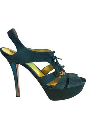 GIANNA MELIANI Turquoise Suede Heels