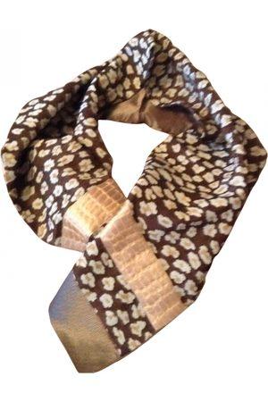 EMMANUELLE KHANH Camel Silk Scarves
