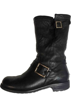 Jimmy Choo Girls Ankle Boots - Youth leather biker boots