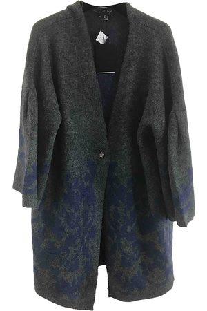 Cortefiel Grey Viscose Coats