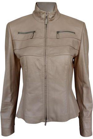 Escada Leather short vest