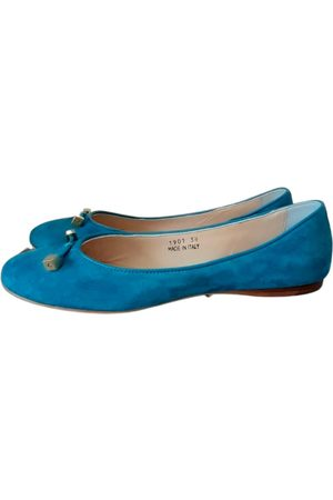 Coccinelle Turquoise Suede Ballet Flats