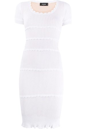 Dsquared2 Women Bodycon Dresses - Rib-knit fitted dress