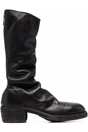 Guidi Rear-zip leather boots
