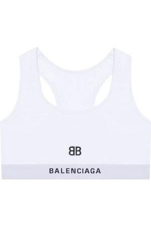Balenciaga Embroidered-motif sports bra