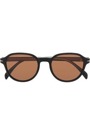 Eyewear by David Beckham Men Round - Round-frame tinted sunglasses