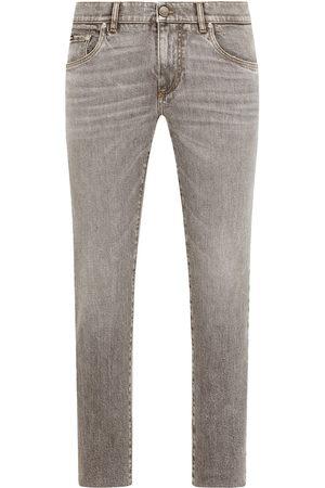 Dolce & Gabbana Logo-plaque slim-fit jeans - Grey
