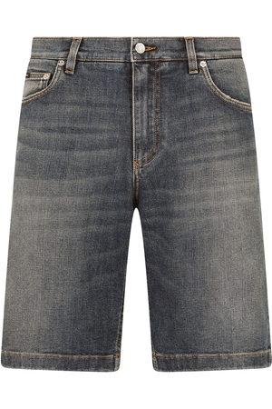 Dolce & Gabbana Faded-effect denim shorts