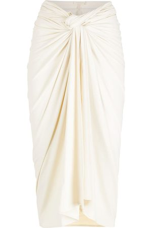 PIU BRAND Knot-detailed gathered skirt