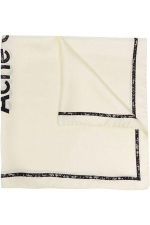 Acne Studios Scarves - Logo print silk scarf