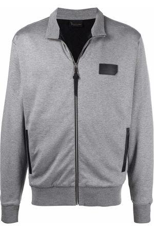 Billionaire Men Sweatshirts - Logo-patch full-zip sweatshirt - Grey