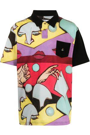 Vivienne Westwood Face-print polo shirt - Multicolour
