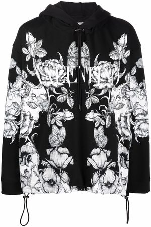 VALENTINO Floral butterfly hooded jacket