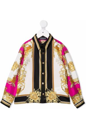 Versace Kids Medusa Renaissance silk shirt